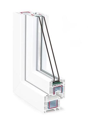 Металлопластиковое окно REHAU Sib-design