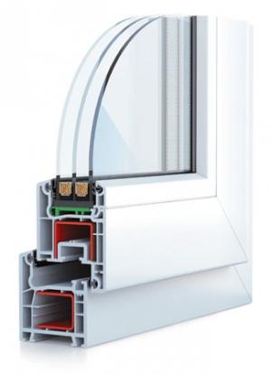 Металлопластиковое окно SCHUCO AS 60 белое