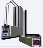 Металлопластиковое окно SCHUCO AS 60 махагон